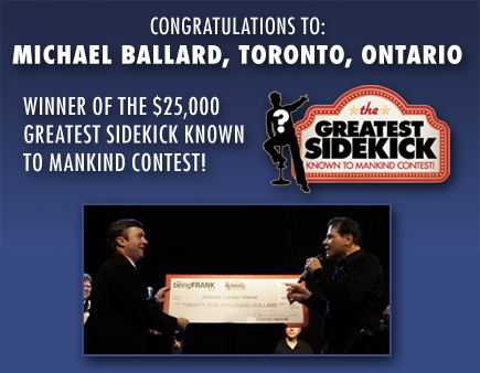Congratulations to: Stephen James, Welland, Ontario